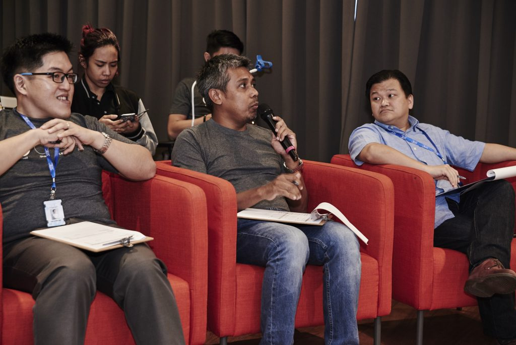 Judges. L-R (Dr. Lau, Kamal Zainul and Goh Boon Peng)