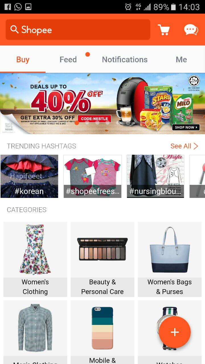 Shopee App interface