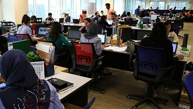 Office workers in Malaysia