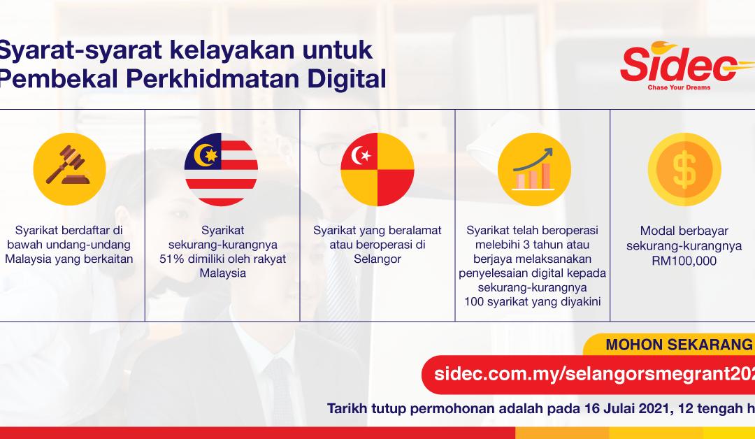 RM1.2 juta diluluskan untuk 300 PKS, Pembekal Perkhidmatan Digital dijemput memohon untuk kumpulan kedua Geran Padanan Digitalisasi PKS Selangor