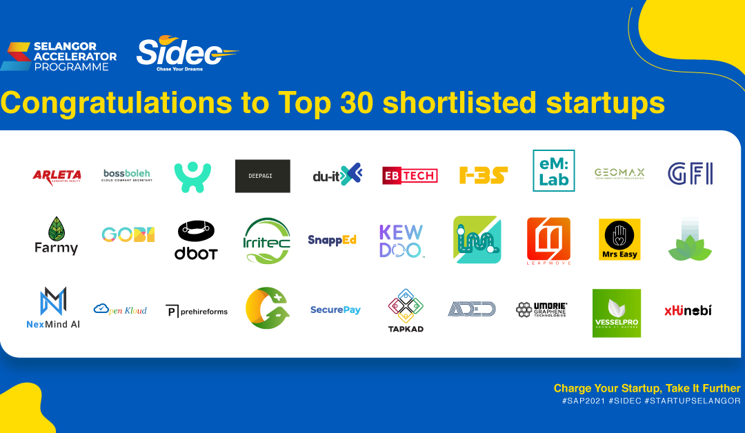 30 startups announced for the Selangor Accelerator Programme 2021