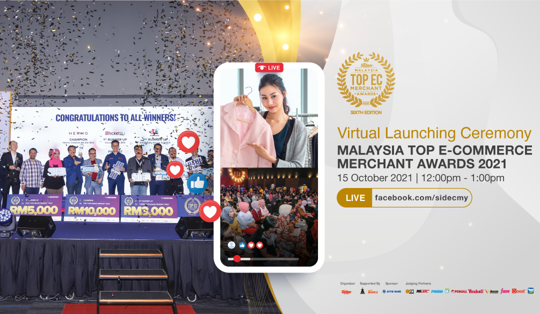 Malaysia Top E-Commerce Merchant Awards 2021 launched with RM40,500 to be grabbed, new livestream contest introduced